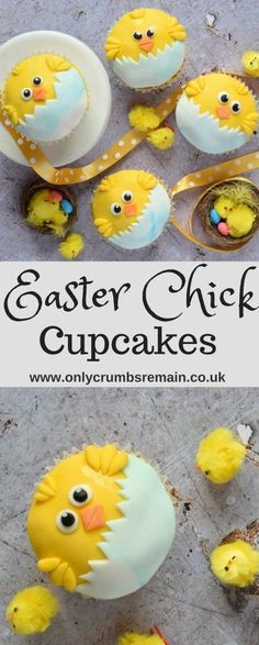 How to make the perfect Easter cupcake with these fun fondant decorated Easter Chick Cupcakes. They're perfect for springtime, bake sales as well as Easter parties. Shared by Career Path Design. Oster Cupcakes, Fondant Cupcakes, Fun Cupcakes, Cupcake Cakes, Mocha Cupcakes, Banana Cupcakes, Gourmet Cupcakes, Strawberry Cupcakes, Velvet Cupcakes