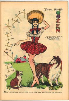 Katy Farm Pin-up Queen with Collie | Laugh No 100 | All rights reserved by NJW1958 Via Flicka photo sharing