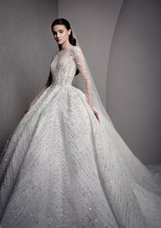Bridal 2019 — ZIAD NAKAD You can find different rumors about the annals of the wedding dress; Bridal Skirts, Modest Wedding Dresses, Boho Wedding Dress, Bridal Gowns, Mermaid Dresses, Lace Mermaid, Mermaid Wedding, Long Sleeve Wedding, Ball Dresses
