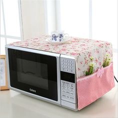 small flower Cotton Dust Cover Microwave Cover Microwave Oven Hood - Microwave Oven - Ideas of Microwave Oven - small flower Cotton Dust Cover Microwave Cover Microwave Oven Hood Microwave Cover With Storage Bag -in Microwave Oven Covers from Home Fabric Crafts, Sewing Crafts, Sewing Projects, Diy Home Crafts, Diy Home Decor, Diy Para A Casa, Oven Hood, Microwave Oven, Bag Storage