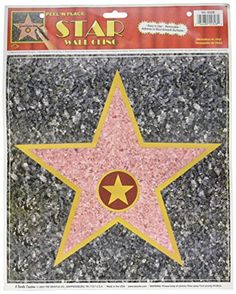 """Star Peel-N-Place Party Accessory (1 count) (1/Sh) - Beistle 55328 """"Star"""" Peel-N-Place. This is an awesome decoration for your Awards Night or Hollywood themed party. Be certain to have enough stars for each guest. Write their names on the star and use them to decorate for your party. Everyone will feel like a movie star!."""