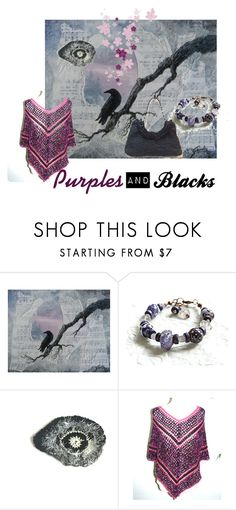 """Purples and Blacks"" by artbymarionette ❤ liked on Polyvore featuring integrityTT and EtsySpecialT"
