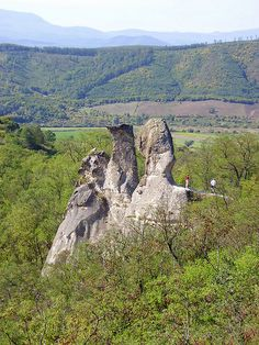 """Barát és Apáca"" sziklák / Rocks called ""Priest and Nuns"" - Near Siroki castle towering andesite rocks dominate the landscape - Sirok, Hungary Heart Of Europe, Old World Charm, Vacation Places, Homeland, Budapest, Beautiful Places, Adventure, Explore, Landscape"
