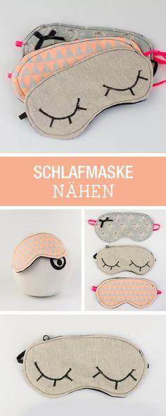Einfach Nähanleitung: Schlafmaske nähen / last minute gift idea: sewing tutorial for a sleeping mask via http://DaWanda.com