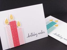 Birthday Wishes #card by Colleen Vassos for @stampinup