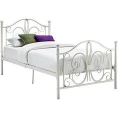 Bombay Twin Metal Bed, White - Walmart.com