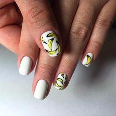 banana nail art