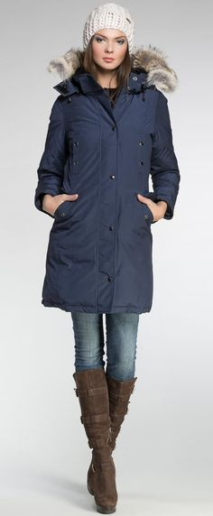 Women's winter down coat, 725 fill power. Arctic Bay - Made in Canada. Winter Coats Women, Coats For Women, Winter Jackets, Girlie Style, Style Me, Outfit Trends, Trend Outfits, My Outfit, Parka