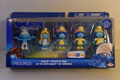 Smurfs - Smurf Movie 5 Figure Pack - Smurfs #ToysRUs Cool Toys, Smurfs, Lunch Box, Packing, Cool Stuff, Movies, Ebay, Bag Packaging, Films