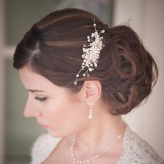 martha pearl and crystal wedding hair comb by chez bec | notonthehighstreet.com