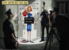 Kathy Griffin Trump Decapitated beheaded, Sean Delonas, CagleCartoons.com