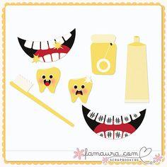 Template Collection 2011 nº19 by Fa Maura [FaMaura_TemplateDentista] - $4.20 : FaMaura.com - scrapshop