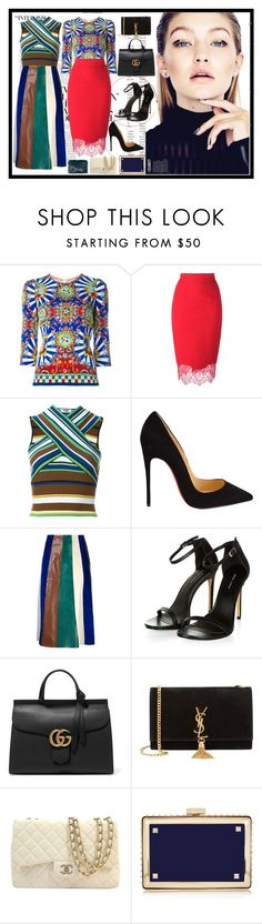 """Maxi Skirts"" by lovecostarica on Polyvore featuring moda, ASOS, Dolce&Gabbana, Ermanno Scervino, MSGM, Christian Louboutin, Derek Lam, Gucci, Yves Saint Laurent y Chanel"