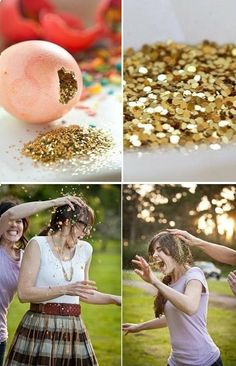 16 DIY Sweet 16 Party Ideas - A Little   Craft In Your Day.    I hate glitter so much this might not be as funny as hoped...