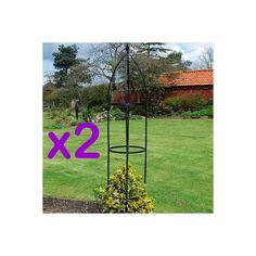 Pack of 2 - Green Blade Metal Garden Obelisk - 248 cm Tall - Coated Steel Tubing: Amazon.co.uk: Garden & Outdoors £17