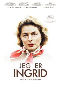 """Jeg er Ingrid.   Ingrid Bergmans datter Isabella Rossellini foreslo at Stig Björkman skulle """"lage en film om mamma"""", og Stig fikk full adgang til en av filmhistoriens store kvinnelige skuespillere og muligheten til å fortelle Ingrids historie med hennes egne ord og bilder. Et personlig portrett av en viljesterk og talentfull kvinne. Filmen ble vist i kategorien Cannes Classics under Cannesfestivalen."""