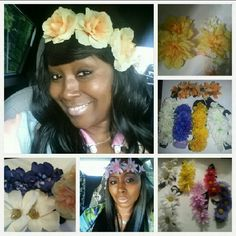 "Custom made Flower head bands ...Any color! I specialize in the Flower Girls for Weddings....My business is called ""Flowers for Flower Girls""! Any color Accessories Hair Accessories"