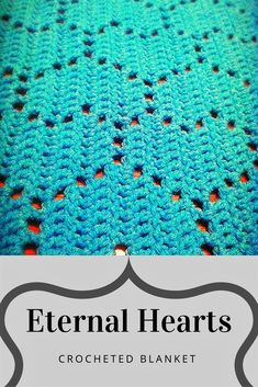 Easy blanket to work up. The hearts add some flare without adding difficulty to the level of crochet experience #ad