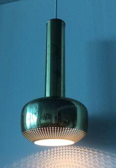 Vilhelm Lauritzen; Brass Ceiling Light for Louis Poulsen, 1955.