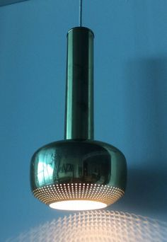 Vilhelm Lauritzen; Brass Ceiling Light for Louis Poulsen, 1955.