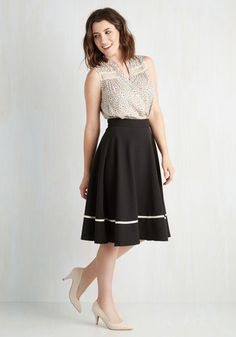 Streak of Success Skirt in Black | Mod Retro Vintage Skirts | ModCloth.com