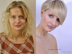 Image change, blonde hairstyle, short hairstyle, změna image, proměna, blond, krátké vlasy, natural make-up, přírodní make-up, L ´Oréal Professionnel