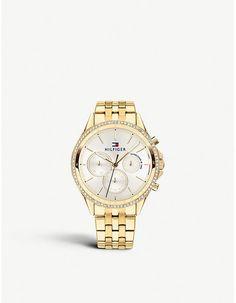 9f06ed2a30b Tommy Hilfiger Chronograph gold-tone bracelet watch