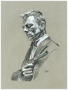Daniel Craig as James Bond by Gossamer1970 on DeviantArt