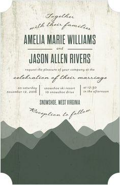 Rustic Horizon - Signature White Wedding Invitations in Willow or Wave | Sarah Hawkins Designs