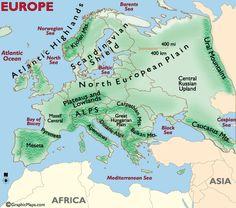 Carpathian mountains map geography pinterest carpathian mountains of europe map sciox Gallery