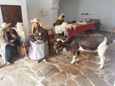 Antiguamente trabajando la lana