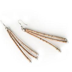 Noodles cork earrings