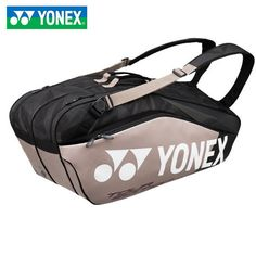 "Yonex Racketbag Pro 2018 platinum Yonex - Yonex Racketbag Pro 2018 platinum Yonex "" Yonex Racketbag Pro 2018 platinum Yonex The Eff - Tennis Bag, Tennis Clothes, Tennis Racket, Tennis Outfits, Tennis Party, Yonex Badminton Bag, Tennis Pictures, Tennis Accessories, Unisex"