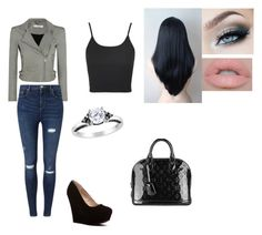 """""""Untitled #249"""" by darkfire9 on Polyvore featuring Amour, IRO, Miss Selfridge, Topshop, Castello and Louis Vuitton"""