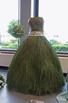 Plantaardige bruidsjurk