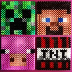 Minecraft coasters hama beads by bethjaneparry