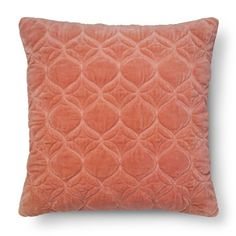"""Washed Velvet Square Decorative Pillow (18""""x18"""") Coral - Threshold™ : Target"""
