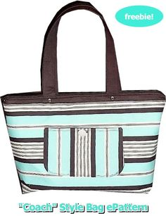 Coach Style Bag - Free Tutorial
