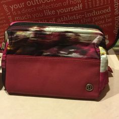 Mind and Body Kit- Lululemon Athletica A locker room friendly shower kit with a sturdy frame designed to stay open when preferred. Easy to clean, wide opening, lots of places to store your items. Zippered outside pocket! lululemon athletica Bags Cosmetic Bags & Cases