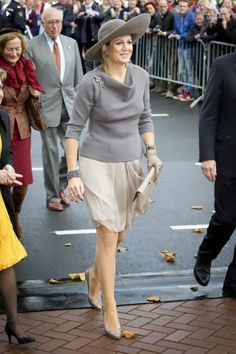 MYROYALS & HOLLYWOOD FASHİON -Queen Maxima of The Netherlands attended  the opening of the new Isala hospital in Zwolle.