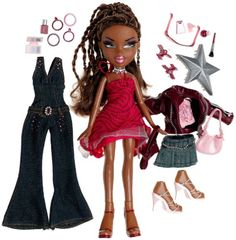 what's great about bratz girlz nite out they came with 3 outfits...girlznite out sasha and secret date yasmin share same jumpsuit,