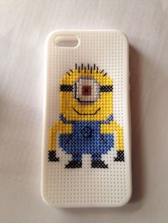 Despicable Me Minion Cross Stitch iPhone 5 Case   Little Red Stitches