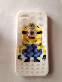 Despicable Me Minion Cross Stitch iPhone 5 Case   Little Red Stitches