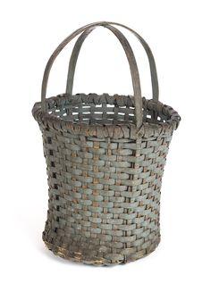 American painted basket