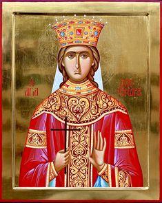 Alexandra of Rome by Nicolaiciuc Nicu of Romania Saint A, Orthodox Icons, Nicu, Romania, Rome, Nursing, Mona Lisa, Angels, Medical