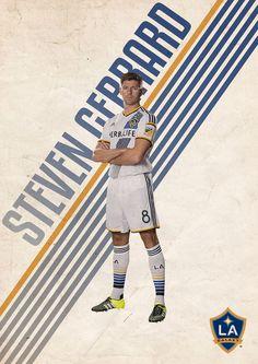 Football Posters on Behance - Steven Gerrard - L.A. Galaxy