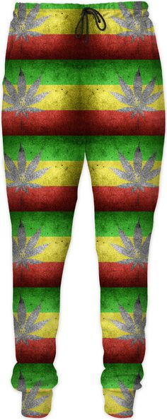 420 ganja and flag pattern jogging pants, weed themed joggers, pot design Running Shorts Outfit, Best Running Shorts, Running Pants, Swim Shorts, Jogging, Casual Looks, Weed, Men Pants, Sweat Pants