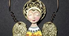 I'm kind of into the glitter and angels right now from Retro Cafe Art Gallery.   This is a Primitive Art Doll Style 3 .  I changed o...