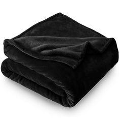 Bare Home Ultra Soft Microplush Velvet Blanket - Luxurious Fuzzy Fleece Fur - All Season Premium Bed Blanket (Twin/Twin XL, Black)