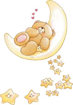 Cute Forever Friends bear with smiley stars Tatty Teddy, Scrapbooking Image, Teddy Bear Pictures, Belly Painting, Love Bear, Cute Teddy Bears, Cute Illustration, Friends Forever, Cute Cartoon